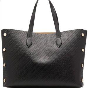 Givency Medium bond logo embossed tote black NEW